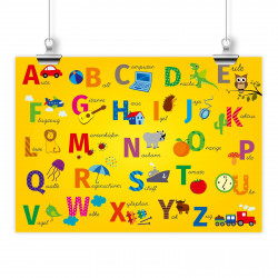 Kinder Lernposter ABC DIN A1/ A2/ A3