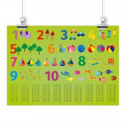 Kinder Lernposter 123 DIN A1/ A2/ A3