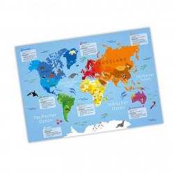 Kinder Lernposter Weltkarte A1/ A2/ A3