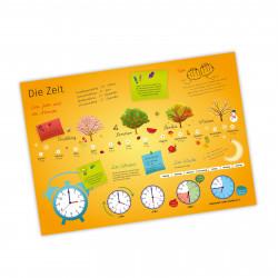 Kinder Lernposter Die Zeit A1/ A2/ A3