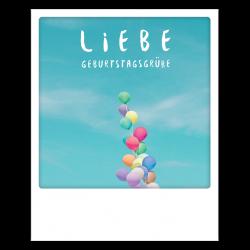 Pickmotion Photo-Postkarte Liebe Geburtstagsgrüße