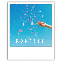Pickmotion Photo-Postkarte Konfetti