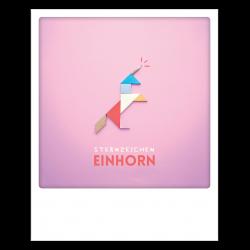 Pickmotion Photo-Postkarte Sternzeichen Einhorn