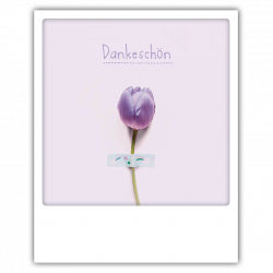 Pickmotion Photo-Postkarte Danke-Tulpe