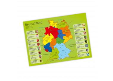 A3 Tischset/ Platzset mit Deutschland- und Europakarte