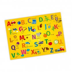 A3 Tischset/ Platzset mit Lerneffekt ABC + 123