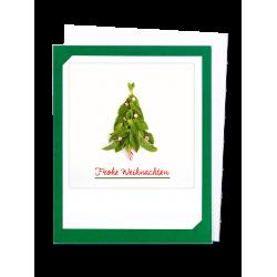 Pickmotion Photo-Klappkarte Frohe Weihnachten Minz-Baum (dunkel grün)
