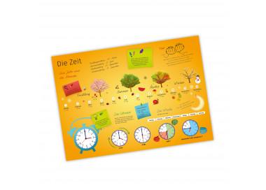 A3 Tischset/ Platzset mit Lerneffekt Die Zeit und Formen