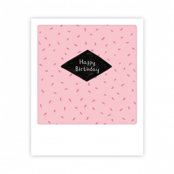 Pickmotion Kleine Postkarte Happy Birthday