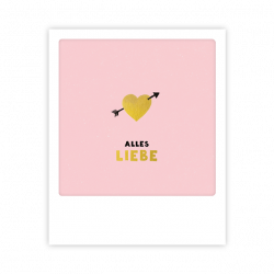 Pickmotion Kleine Postkarte Alles Liebe
