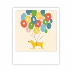 Pickmotion Kleine Postkarte Happy Birthday Dog