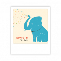 Pickmotion Kleine Postkarte Konfetti Für Dich