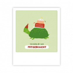 Pickmotion Kleine Postkarte Happy Turtle