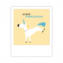 Pickmotion Kleine Postkarte Unicorn