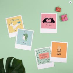 Pickmotion Kleine Postkarte