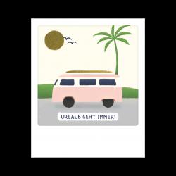 Pickmotion Kleine Postkarte Urlaub Geht Immer Van