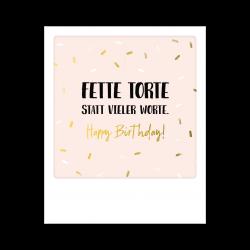 Pickmotion Kleine Postkarte Fette Torte Statt Vieler Worte