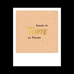 Pickmotion Kleine Postkarte Kaum In Torte Zu Fassen