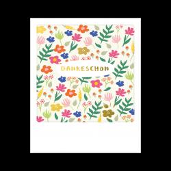 Pickmotion Kleine Postkarte Dankeschön Blumen