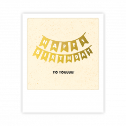 Pickmotion Kleine Postkarte Happy Birthday To You