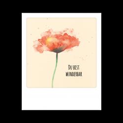 Pickmotion Kleine Postkarte Du Bist Wunderbar