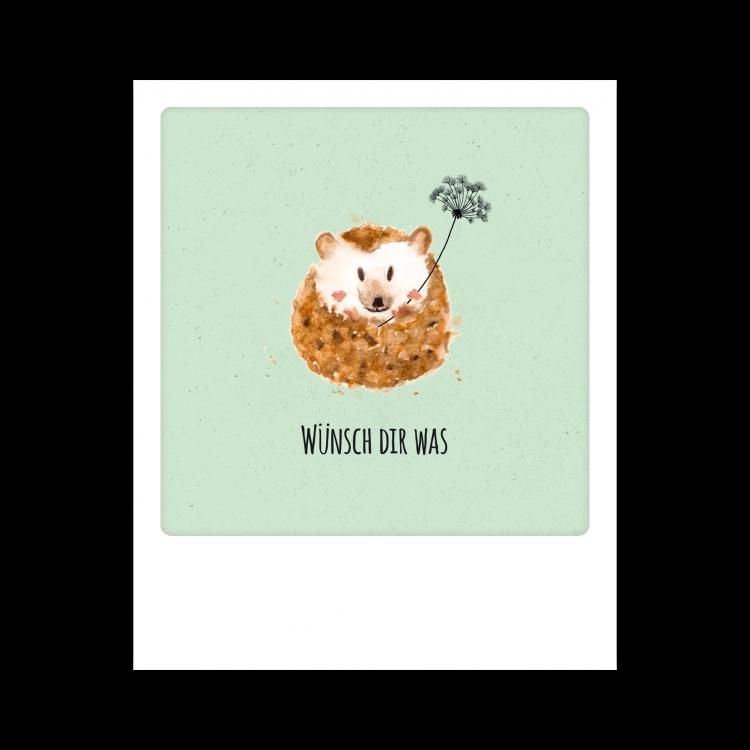 Pickmotion Kleine Postkarte Wünsch Dir Was