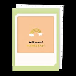 Pickmotion Kleine Klappkarte Willkommen Baby (frühlingsgrün)