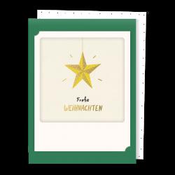 Pickmotion Kleine Klappkarte Weihnachtsstern (dunkel grün)