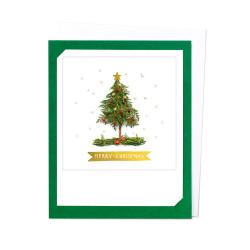Pickmotion Photo-Klappkarte Frohe Weihnachten (dunkel grün)