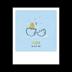 Pickmotion Kleine Postkarte Hurra Du Bist Da