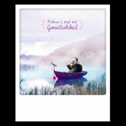 Pickmotion Photo-Postkarte Probiers Mal Mit Gemütlichkeit