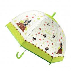 TRÖTSCH transparenter Kinder Regenschirm Der kleine Maulwurf grün