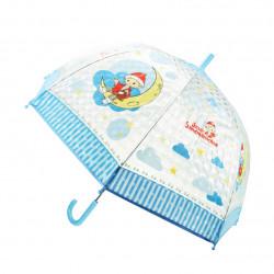 TRÖTSCH transparenter Kinder Regenschirm Sandmann blau