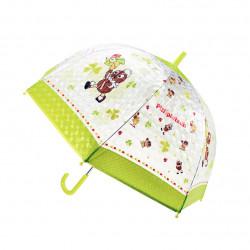 TRÖTSCH transparenter Kinder Regenschirm Pittiplatsch grün