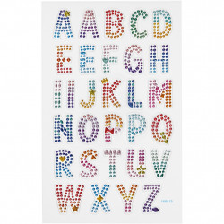 Diamantsticker Alphabet ABC Aufkleber Strassteine