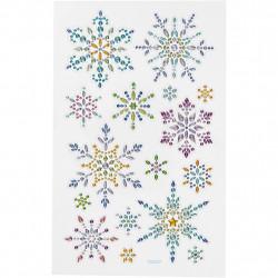 Diamantsticker Schneeflocken Aufkleber Strassteine