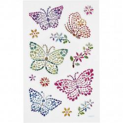 Diamantsticker bunte Schmetterlinge Aufkleber Strassteine