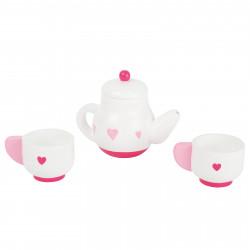 SMALL FOOT Teeservice Teekanne Tassen 4 Teile