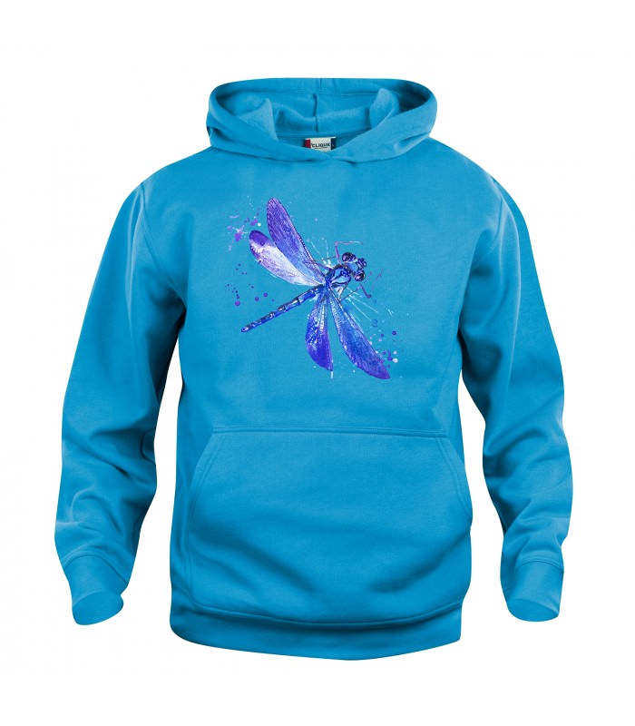 kinder hoodie kapuzensweatshirt libelle blau t rkis hellblau. Black Bedroom Furniture Sets. Home Design Ideas