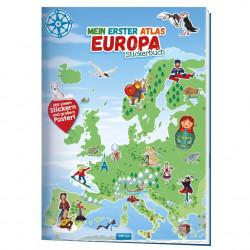TRÖTSCH Stickerbuch Mein erster Atlas- Europa