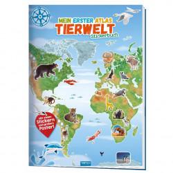 TRÖTSCH Stickerbuch Mein erster Atlas- Tierwelt