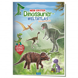 TRÖTSCH Stickerbuch - Mein erster Dinosaurier- Atlas