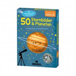 MOSES Kartenspiel- Expedition Natur - 50 Sternbilder und Planeten