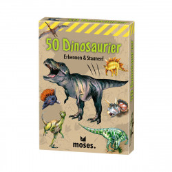 MOSES Kartenspiel- 50 Dinosaurier