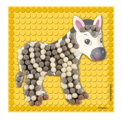 PLAYMAIS Bastelset Little Zoo Mosaikbilder