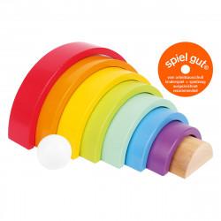 SMALL FOOT Holzbausteine Großer Regenbogen