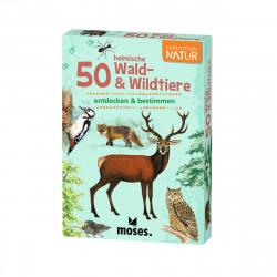 MOSES Kartenspiel- Expedition Natur - 50 heimische Wald- & Wildtiere