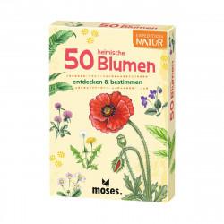 MOSES Kartenspiel- Expedition Natur - 50 heimische Blumen