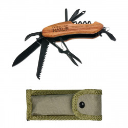 MOSES Expedition Natur Outdoor-Taschenmesser mit Holzgriff