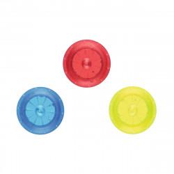 MOSES Kleine Speichenlichter LED 3er Set- rot, blau, gelb